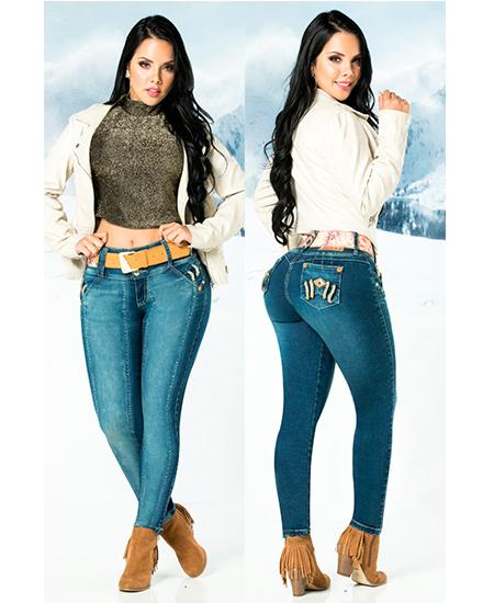 Pantalones colombianos altos
